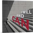 ARTCANVAS I Will and I Can Motivational Canvas Art Print