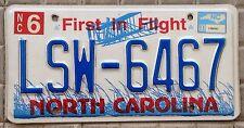 TARGA USA auto NORTH CAROLINA First in Flight ORIGINALE jeep OVEST volo aereo