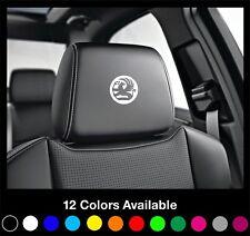 5 VAUXHALL Logo Headrest Car Seat Decals Badge Sticker Corsa Astra Insignia Adam