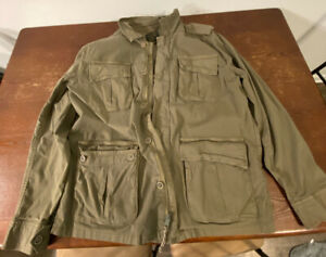 Lucky Brand Mens Field Utility Cotton Zip Button Jacket XL