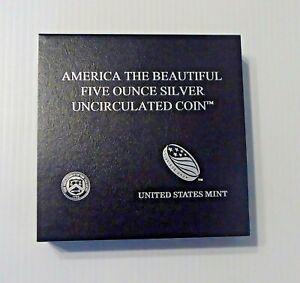 2020 P ATB 5 Ounce Silver Uncirculated Coin, Salt River Bay, 20AL, COA, Mint Box