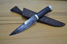 """Russian knife """"Viking"""".Damascus steel.Warranty- lifetime.Handmade.62 HRC.Russia"""