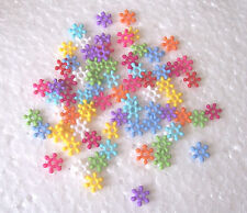 200 x 7mm Snowflake Acrylic Spacer Beads Random Mixed Colourful Findings Frozen