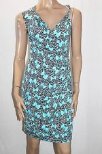 NAKED ART Brand Blue Printed Bow Wrap Dress Size 8 BNWT #SE66