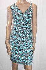 NAKED ART Brand Blue Printed Bow Wrap Dress Size 8 BNWT #SE66