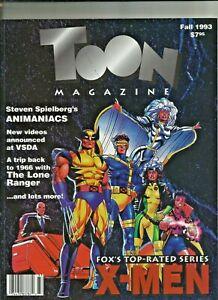 TOON MAGAZINE MARVEL X MEN ANIMATED STEVEN SPIELBERG ANIMANIACS 1993