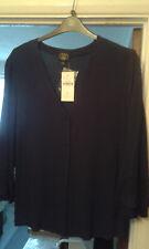 Laura Ashley navy blue viscose crepe blouse size XL
