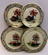 Lot 4 Vintage Daher Tin Plates Holland Decorated Ware Lightweight Childs Play