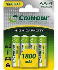 CONTOUR 1800MAH NIMH RECHARGEABLE AA BATTERIES 4 PACK