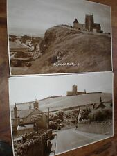 2 RPPC postcards Uphill Weston c1940s