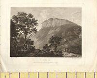 1785 Antico Georgiano Stampa ~ Matlock Alto Tor ~ Derbyshire