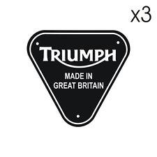 3 Stickers plastifiés Triumph MADE IN GREAT BRITAIN - 5cm x 5cm