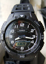 Casio AQS800W-1BV SOLAR POWER Watch World Time 5 Alarms 100m New