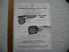 1959 One Sheet Ad - Perrine Free-Stripping Fishing Reels.