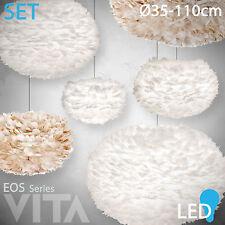 VITA Eos mini L XL XXL weiß braun Feder LED Pendel Stehleuchte Tischleuchte