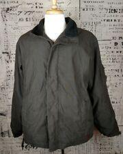Men's Woolrich Chocolate Brown Fleece Lined Zippered Jacket Size L