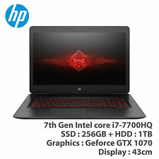"HP OMEN 17-W209TX 17.3"" 7th i7-7700HQ UHD GTX1070 8GB 256GB 1TB Win10"