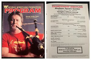 WWF WWE Program Volume 112 Rowdy Roddy Piper Hogan Slaughter Santana Match Card!