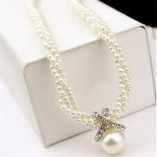 Damen Blume Halskette Perlen Kette Statement Choker Schmuck Collier Blogger Best