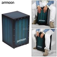 ammoon Wooden Box Drum Cajon Hand Drum Persussion Instrument Zebra Wood AD L1Q8