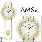 AMS Horloge murale 5257 avec pendule Radio-piloté murale, Verre minéral DU SALON
