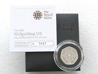 2010 Royal Mint Piedfort Girlguiding 50p Fifty Pence Silver Proof Coin Box Coa