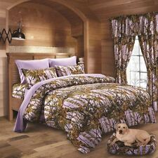 22 PC LAVENDER CAMO FULL SIZE!! COMFORTER SHEET CURTAIN CAMOUFLAGE BEDDING
