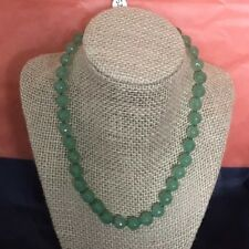 Natural Raw Faceted Emerald Necklace 18 Inches 52 Grams