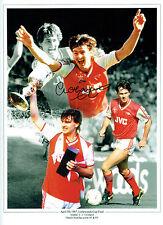 Charlie NICHOLAS Signed Autograph Arsenal Cup Final Montage Photo AFTAL COA