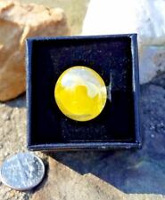 Ring - Ooak! Upcycled/Repurposed Flattened Marble Glass