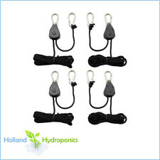 2 PAIRS ROPE RATCHETS Light/Reflector/Ventilation Heavy Duty Hangers up to 68KGS