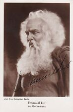 EMANUEL LIST opera bass signed photo as Gurnemanz in Parsifal