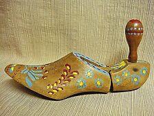 ANTIQUE Cobbler's WOODEN SHOE FORM - Folk Art Painted