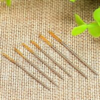 6pcs Large Gold Eye Needles Embroidery Leather Hand Sewing Stitching Craft Tool