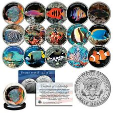 SALTWATER FISH Aquarium Tank JFK Kennedy Half Dollars U.S. Complete 15-Coin Set