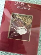 """Spectacular Waterford Marquis Crystal Dove Ornament With Gold Tassel - Nib 3"""""""