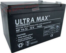 4 x ULTRAMAX 12V 14AH HEAVIER DUTY Electric Bike Batteries - Powabyke, Sakura