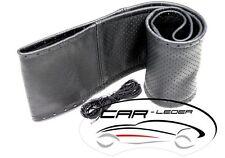 Volante lenkradschoner volante de cuero referencia para atar mediante cordón negro Vidnn perforada l! #