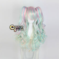 Lolita Anime Multi-Color Halloween Ombre Heat Resistant Cosplay Wig+Ponytails