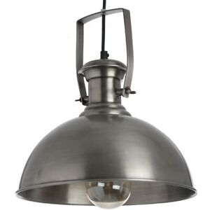 Hanging Industrial Style Antique Silver Pendant Shade Light Lamp