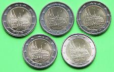 """2 Euro Gedenkmünze Deutschland 2011 """"Kölner Dom"""" alle 5 Stück A,D,F,G,J"""