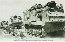 French Military, World War 1: Tanks, French Front. Pre-1915. B&W.