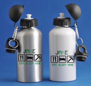 Eat Sleep Mine - Personalised Kids/Drinks/Sports Childrens Water Bottle