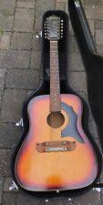 1969 TEXAN 5/296 12 String Sun Burst Acoustic Guitar $285 No Case.
