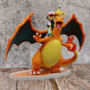 New 6.5'' Ash Ketchum & Charizard Action Figures PVC Toy Animation Model No Box