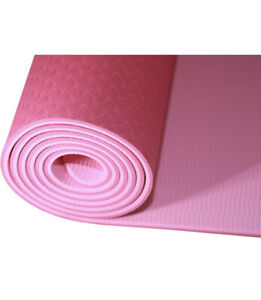 KAWA Sports Yoga Mat, Anti Tear, TPE, Free Carry Strap, Non-Slip, Eco Friendly