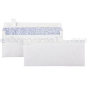 """Peel & Self-Seal White Letter Mailing Long Security Envelopes 4-1/8"""" x 9-1/2"""""""