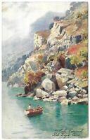 "Antique Tuck's Postcard ""OILETTE"" LOCH LOMOND Rob Roy's Cave Scotland Artist"