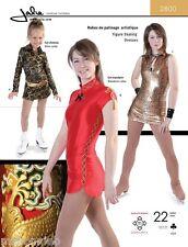 Jalie Figure Skating Dress Mandarin or Shirt Collar 22 size Sewing Pattern 2800