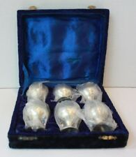 Vintage EPNS Silver Plated Goblets (6 cups) with Velvet Case
